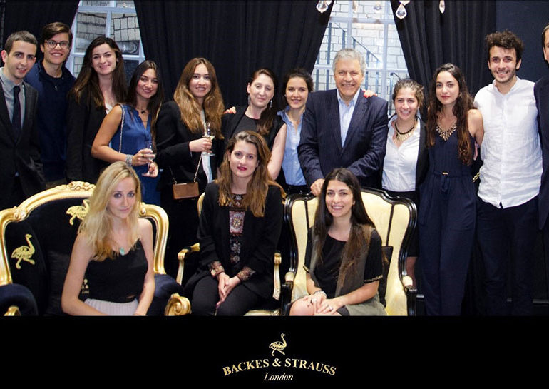 London Summer Internship Program interns meeting with Vartkess Knadjian, CEO of the Backes & Strauss